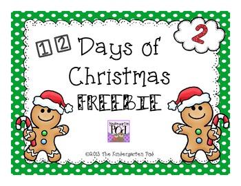 12 Days of Christmas Freebie...Day 2