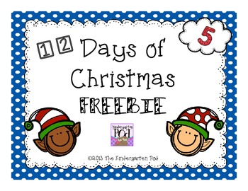 12 Days of Christmas Freebie.....Day 5!