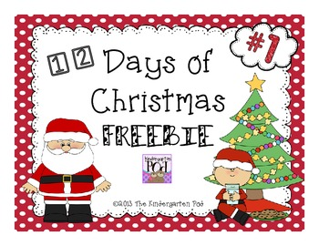12 Days of Christmas Freebies.....#1