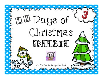 12 Days of Christmas Freebies....Day 3