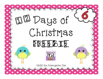 12 Days of Christmas Freebies.....Day 6