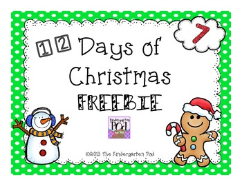 12 Days of Christmas Freebies......Day 7