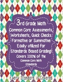 3rd Grade Common Core Standards Math Assessments Third {10