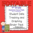 4th Grade Common Core: Math {Student Data Tracking Binder