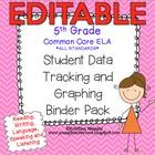 5th Grade Common Core: ELA {Student Data Tracking Binder P