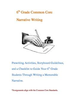 6th grade common core narrative writing 0 0 sixth grade students will
