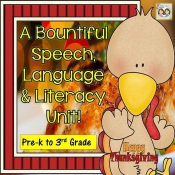 50% off -A Bountiful Pre-K Thanksgiving Themed Speech, Lan