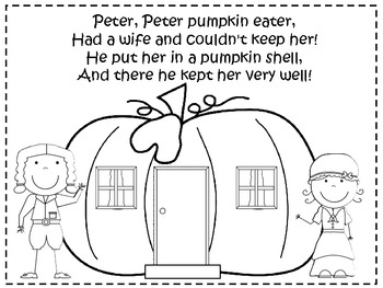 Peter Peter Pumpkin Eater Coloring Page Coloring Pages Pumpkin Eater Coloring Page