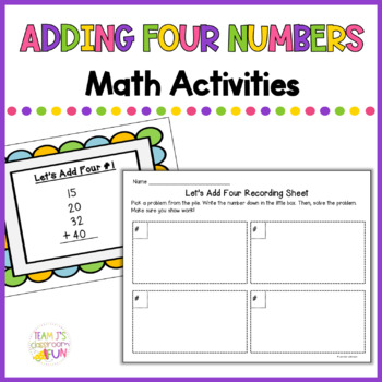 Adding 4 Numbers - 2.NBT.6