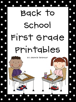 Back to School First Grade Printables