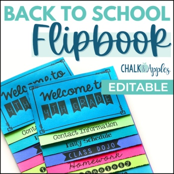 html flip book template - teaching trio back to school blog hop giveaway