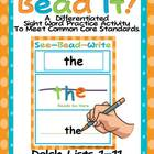 Bead It-Complete Differentiated Dolch Lists 1-11 Word Fun