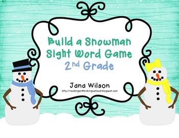 http://www.teacherspayteachers.com/Product/Build-a-Snowman-Sight-Word-Game-2nd-Grade-494052