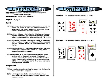 Number Pattern - Math Practice - Math Flash Cards