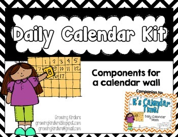Daily Calendar Kit {Black and White}