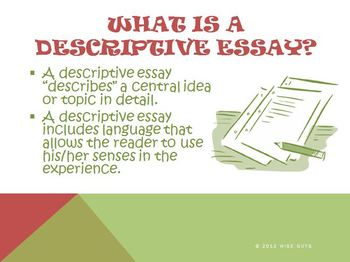 Descriptive Essay Topics List