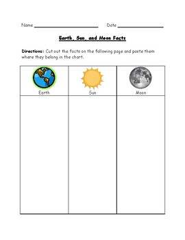 sun moon earth model worksheet pics about space. Black Bedroom Furniture Sets. Home Design Ideas