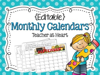 {Editable} Monthly Calendars 2013-2014