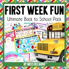Back to School: First Week Fun!