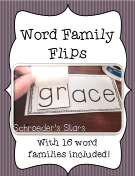 *Flash Freebie!* Word Family Flips!  Word families