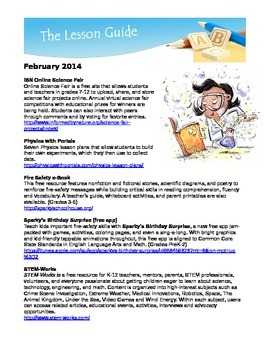 Free Science Resources February 2014