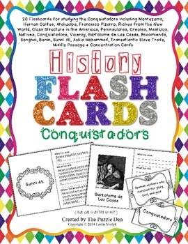 History Flashcards - Conquistadors