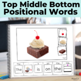 Prepositions: Top Middle Bottom Adapted Book Bundle Autism
