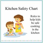 Kids Cooking- Kitchen Safety Chart