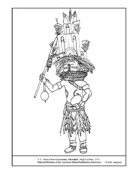 8 Hopi Indians Colouring Pages