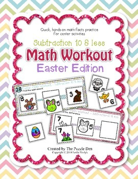 Math Workout Subtraction 10 & less - Easter Edition