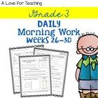 Morning Work Weeks 26-30