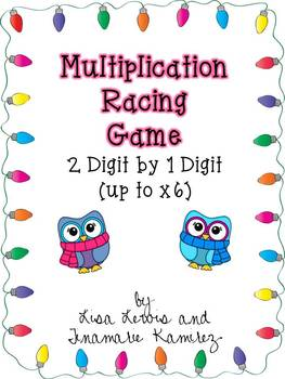 Multiplication Racing Game~2 Digit by 1 Digit {up to x6}