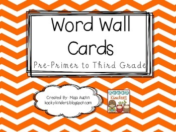 Orange Chevron Word Wall