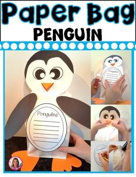 Penguin Paper Bag Writing Craftivity