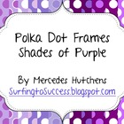 Polka Dot Frames Shades of Purple