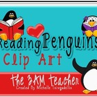 Reading Penguins Clip Art Collection