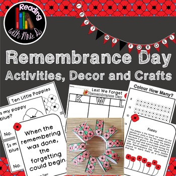 Remembrance Day Numbers Emergent Reader