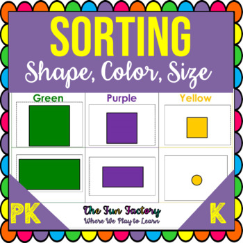 Shape & Color Matching, Size Sorting, PreK-K, CC Style, Au