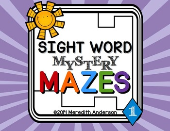 http://www.teacherspayteachers.com/Product/Sight-Word-Mystery-Mazes-Pack-One-1406247