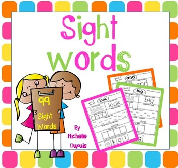 Sight Words (on sale until Friday)
