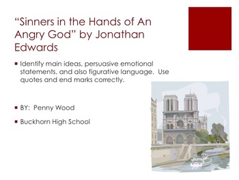 two different ways of persuading people in edwards sinners in the hands of an angry god and jefferso Sinners in the hands of an angry god analysis helping edwards' purpose of persuading sinners to repent and have it open their mind in a different way.