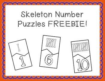 Skeleton Puzzles FREEBIE