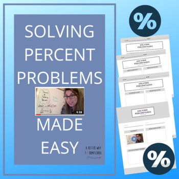 Solving Percent Worksheets