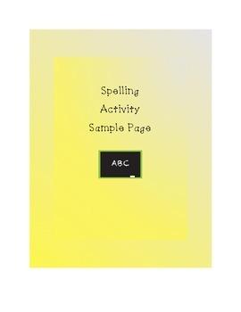 Spelling Packet Sample