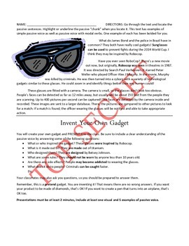 http://www.teacherspayteachers.com/Product/Spy-Gadgets-and-Passive-Voice-Alex-Rider-Operation-Stormbreaker-1284216