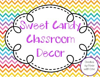 Sweet Candy Theme Classroom Decor