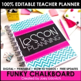 The ULTIMATE Teaching Survival Binder: Funky Chalkboard Theme