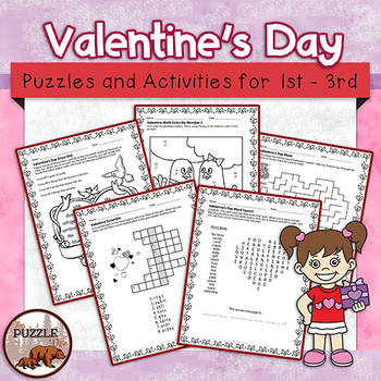 Valentine's Day Puzzles for Lower Elementary