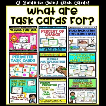 Ways to Use Task Cards!  Freebie!