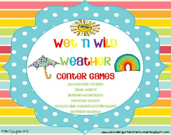 http://www.teacherspayteachers.com/Product/Wet-n-Wild-Weather-Center-Games-696571